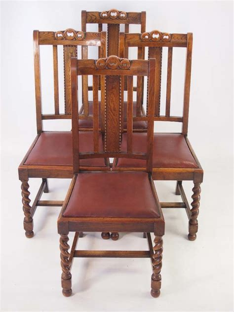 oak dining chairs antique set 4 vintage oak dining chairs circa 1920s 3040