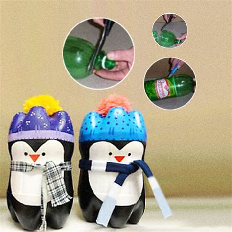 membuat boneka pinguin botol bekas