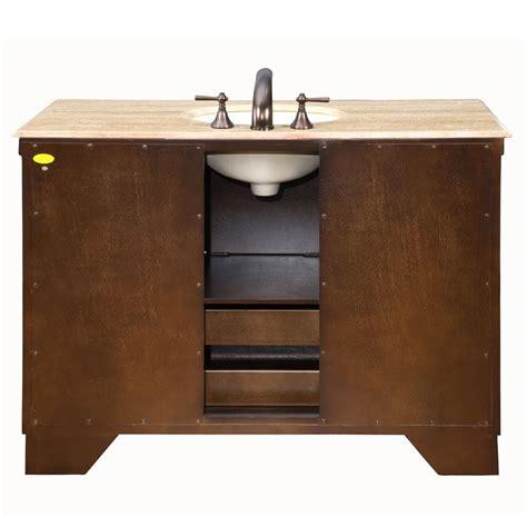 ivory ceramic kitchen sink silkroad exclusive 48 quot single sink cabinet travertine 4882
