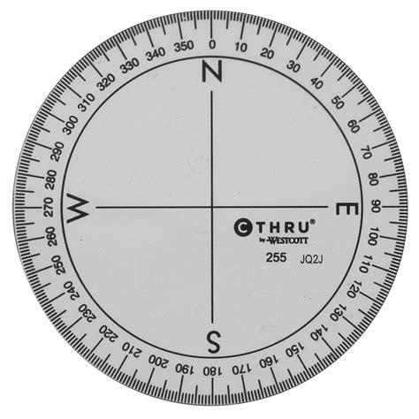 westcott     circular protractor clear