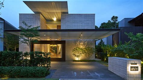 zen courtyard contemporary home  singapore inspired