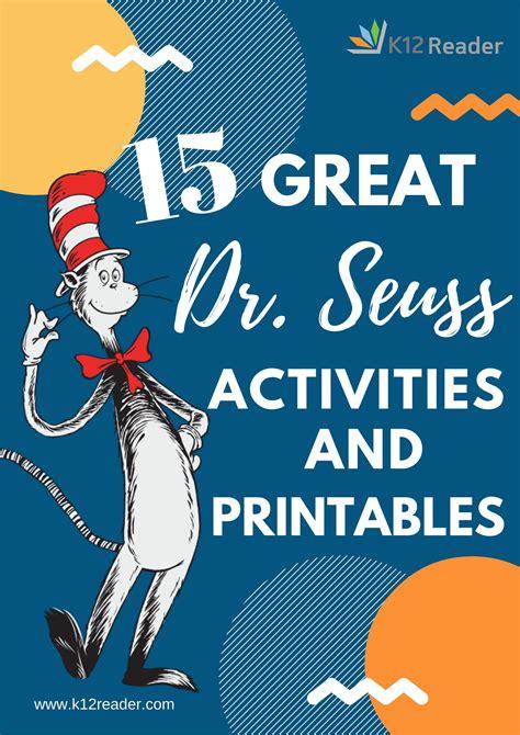 great dr seuss printables  activities   classroom