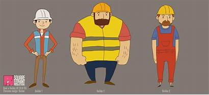 Builder Character 2d Animated Characters Advert Square