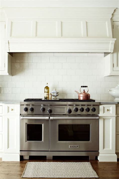 kitchen white paint wooden stove hoods with nutone range