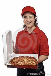 Pizza Delivery Woman Royalty Free Stock Photography ...
