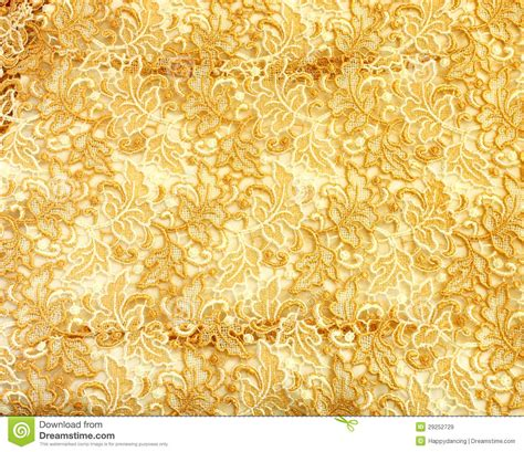 gold lace pattern fabric royalty  stock images image