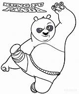 Coloring Kung Fu Pages Panda Printable Cool2bkids sketch template