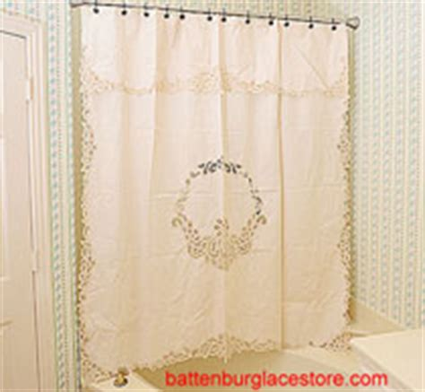 Battenburg Lace Curtains Ecru by Shower Curtains Battenburg Lace Shower Curtain