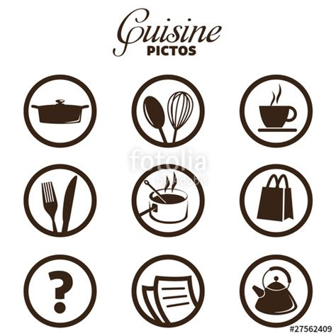 pictogramme cuisine quot cuisine pictos quot fichier vectoriel libre de droits sur la banque d 39 images fotolia com image