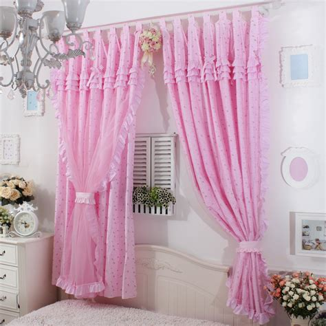 pink ruffled window curtains princes pink base ruffle curtain window treatment