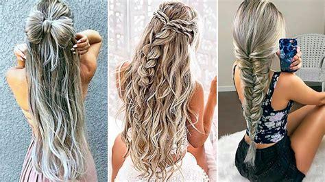 peinados faciles  rapidos  cabello largo  youtube
