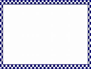 Checkerboard Border Blue Clip Art at Clker.com - vector ...