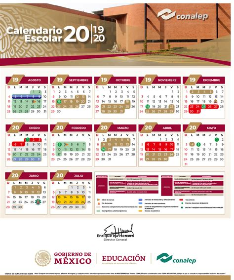 calendario escolar colegio nacional de educacion