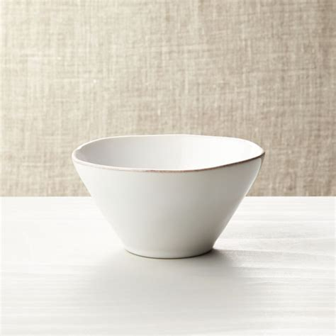 marin white bowl reviews crate  barrel