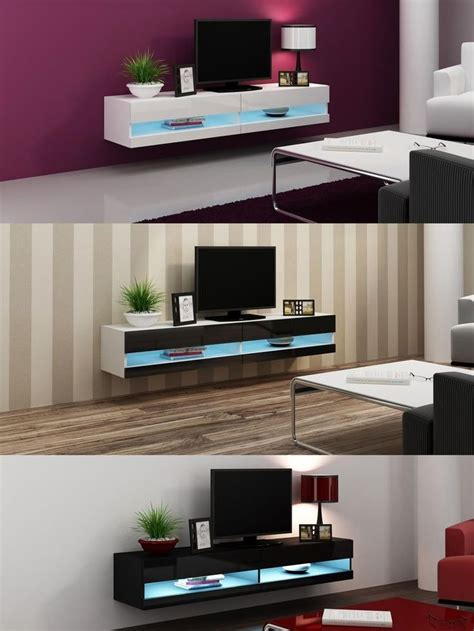 high gloss tv stand cabinet  led lights