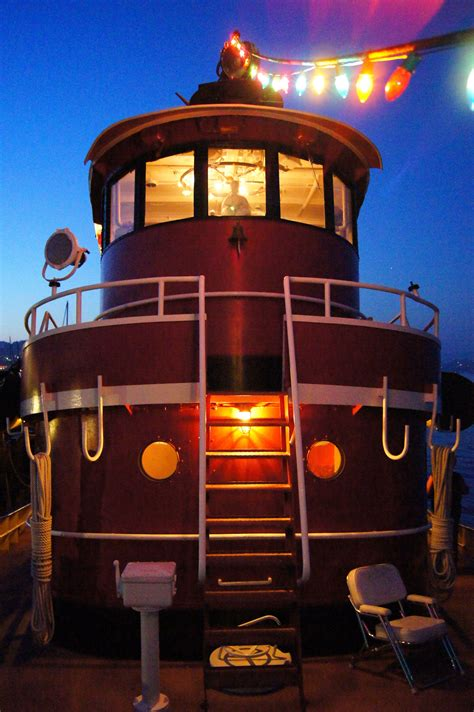 Tug Boat For Sale Sausalito by Captain Pilot Gautama Buddha Lights Pilothouse