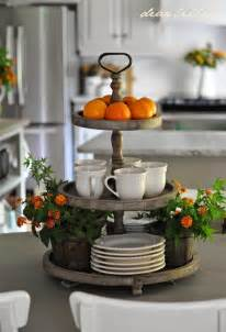 kitchen island centerpiece ideas 3 tier display for the kitchen island decor and trays