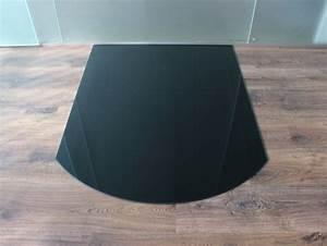Glasplatte Kamin Vorschrift : segmentbogen 100x120cm glas schwarz funkenschutzplatte ~ Watch28wear.com Haus und Dekorationen