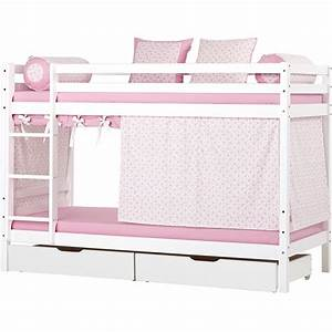 Lit Mezzanine Double : ensemble lit mezzanine enfant double couchage en pin ~ Premium-room.com Idées de Décoration