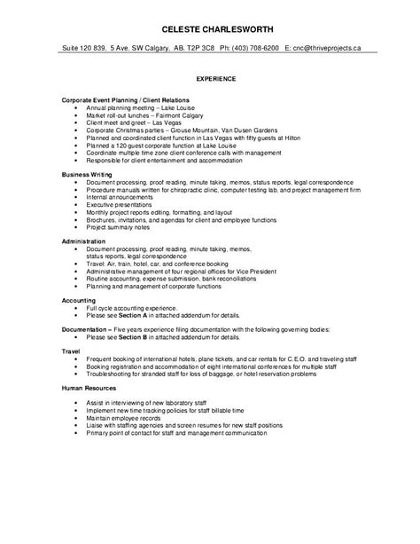contents of a comprehensive resume 28 images sle