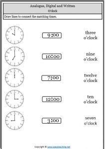 Digital Time Worksheets  Checks Worksheet