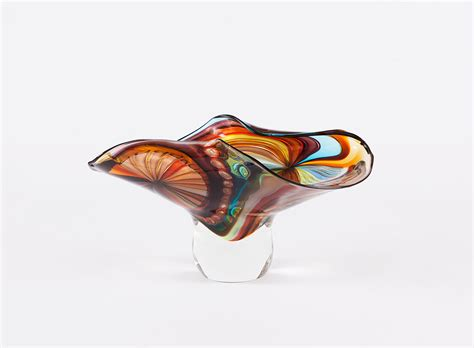 vasi artistici vaso in vetro sommerso e avventurina massimiliano