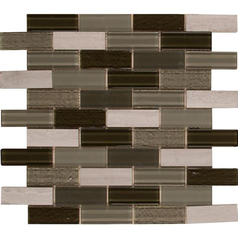 Home Depot Wall Tile Sheets by Tivoli 12 In X 12 In X 6 Mm Glass Mesh Mounted