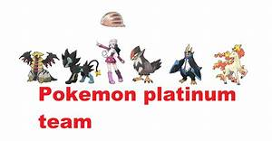 My Pokemon Platinum Team By Sonicmila On Deviantart