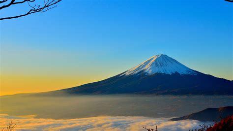 Wallpaper For Dual Monitors Mount Fuji Mountain In Japan Active Volcano Wallpaper Wallpapersbyte