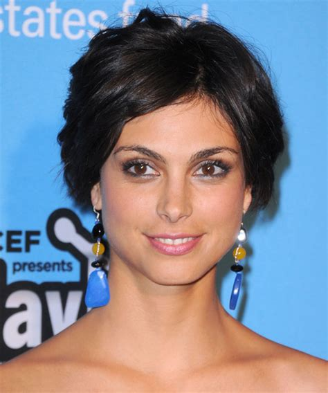 morena baccarin formal medium curly updo hairstyle black hair color