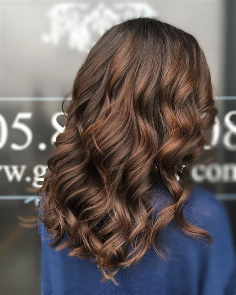 Sweetest Caramel Highlights on Light to Dark Brown Hair
