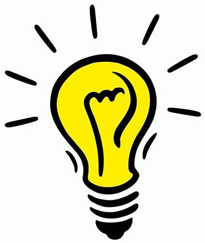 Idea Bulb Clip Clipart Lightbulb Bulbs Lights
