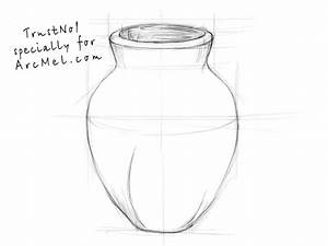 How to draw a vase step by step | ARCMEL.COM