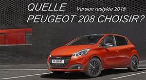 Quelle Peugeot 208 restylée choisir