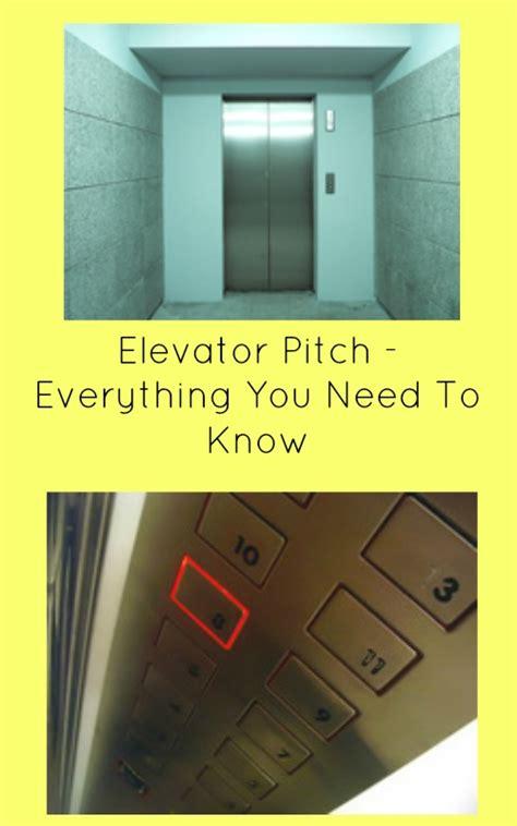 elevator pitch       random musings