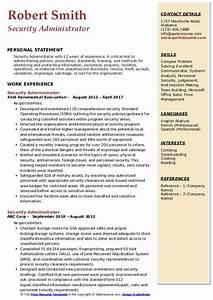 Computer Skills Resume Example Security Administrator Resume Samples Qwikresume