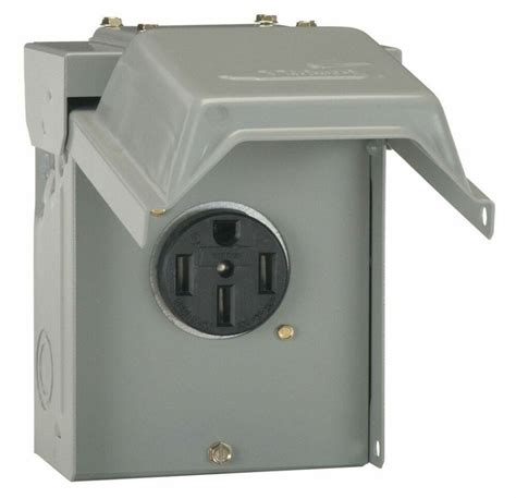 Amp Temporary Power Outlet Outdoor Receptacle Plug