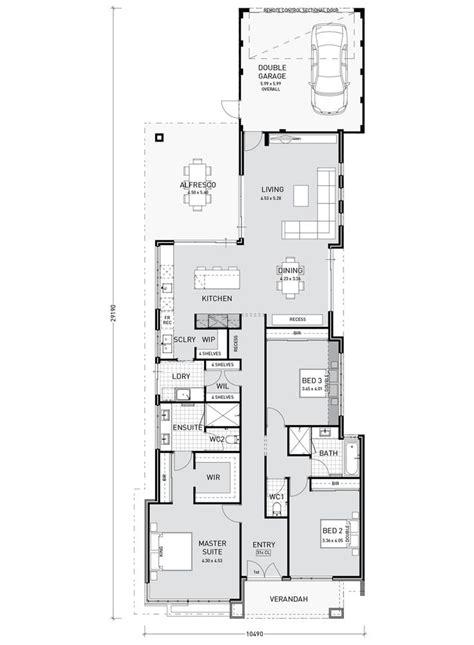 catchy floor plan  story  garage   inspire single storey house plans modern