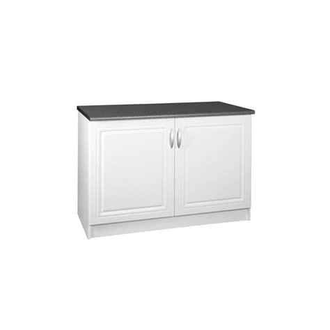 meuble de cuisine 120 cm meuble de cuisine bas 2 portes 120 cm dina en mélaminé