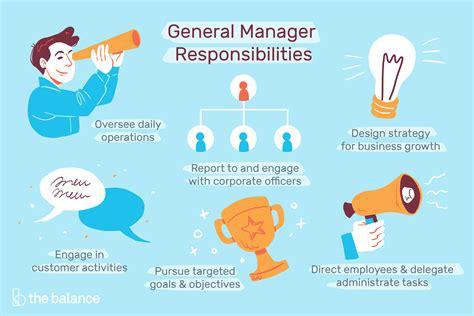 general manager job description salary skills