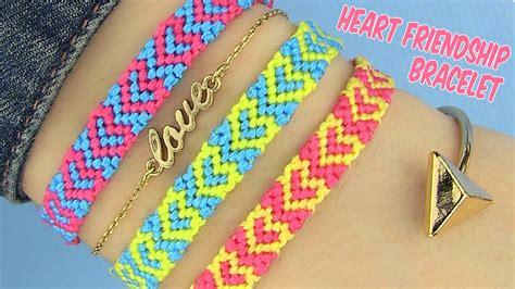 Diy Heart Friendship Bracelets Youtube