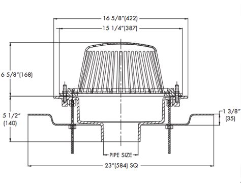 Self Ballasted L Hy 2u12v by Watts Rd 300 F Roof Drain With Adjustable Extension Flange