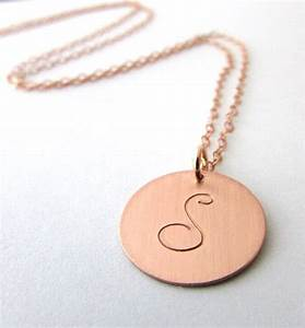rose gold letter necklace rose gold initial charm necklace With rose gold letter necklace
