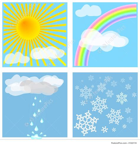 weather types stock picture