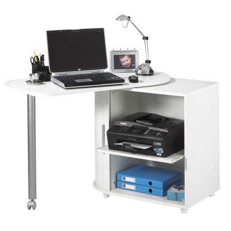 bureau informatique pas cher bureau informatique blanc pivotant beaux meubles pas chers
