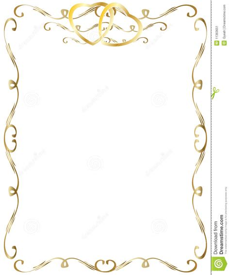 Wedding Anniversary Border Invitation Stock Vector