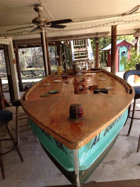 vintage wood boat turned bar boat bar