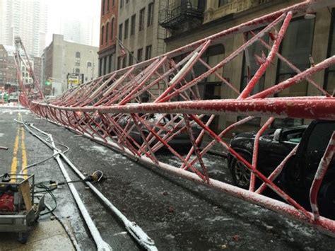 huge crane collapse   manhattan video dpccars