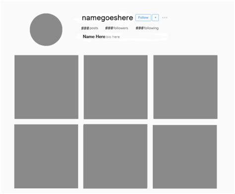 instagram grid template aesthetic template
