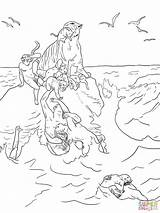 Coloring Flood Flooding Dore Drawing Printable Drawings Gustave sketch template